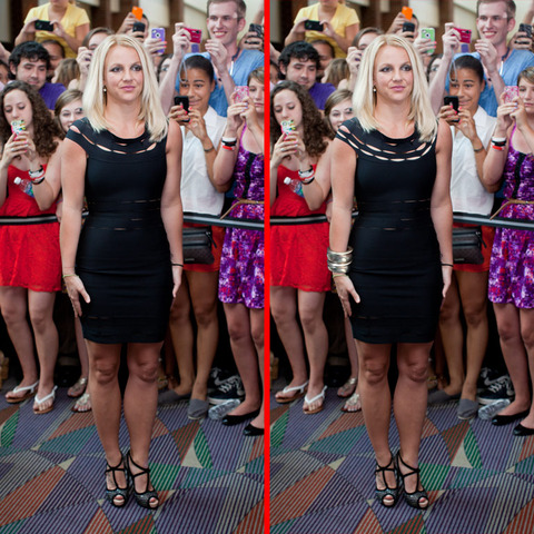 Can you spot the THREE differences in the Britney Spears picture?
