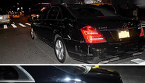 Katie Holmes & Suri Cruise Accident -- Limo Banged Up by Garbage Truck