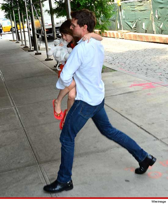 Tom and Suri Cruise in New York City.