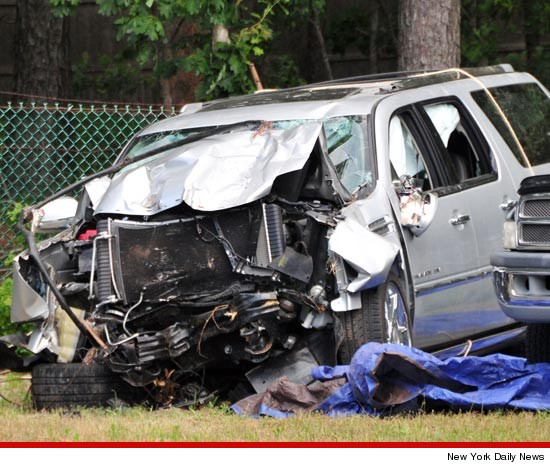 Jason Kidd's Wrecked Car