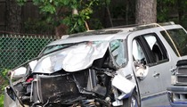 Jason Kidd's Crash Car -- The Mangled Wreckage [Photo]