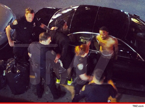Police arresting A$AP.