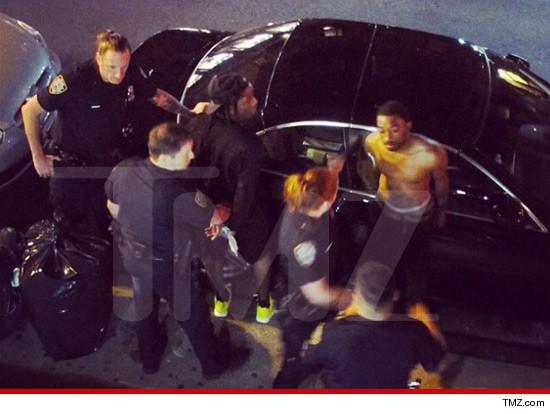 Police arresting A$AP.