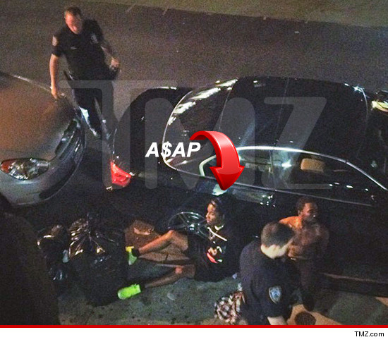A$AP being arrested