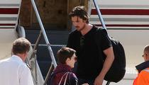 'Dark Knight Rises' -- Christian Bale, Anne Hathaway Leave Paris