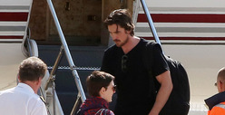 &#039;Dark Knight Rises&#039; -- Christian Bale, Anne Hathaway Leave Paris