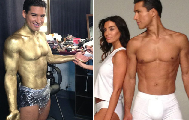 Mario Lopez Gets Body Painted in Gold for Sexy Underwear Shoot