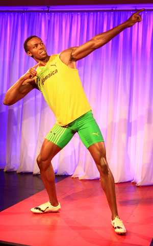 Usain Bolt's Winning Wax Figure