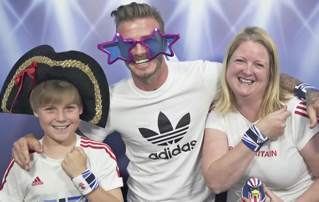 Video: David Beckham Surprises Fans In Photo Booth