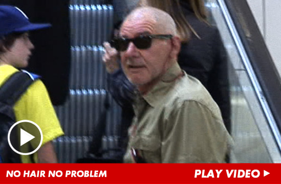 Harrison Ford's new haircut -- a buzzed head