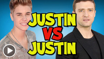 Justin Bieber vs. Justin Timberlake -- Balls Out  Competition