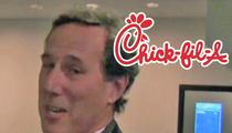 Rick Santorum -- Swallows a Mouthful of Anti-Gay Chick-fil-A