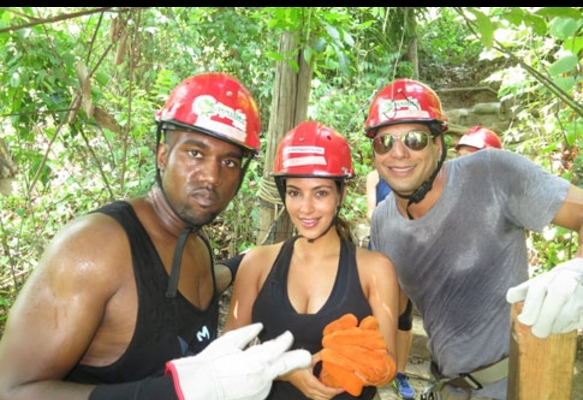 Photos: Kim Kardashian & Kanye West Vacation with Joe Francis