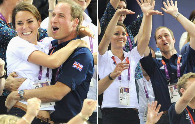 William and Kate Show PDA at the Olympic Games!