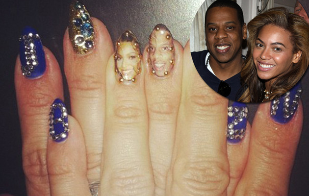 Beyonce Shows Love for Jay-Z … on Her Nails!