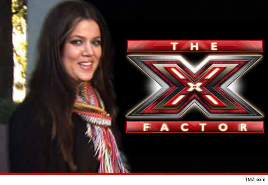 "Khloe Kardashian is being seriously considered to become the next host of ""X Factor"" ... TMZ has learned.Sources connected with the show tell us ... they have whittled down the list of finalists to 6"