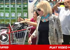 Joan Rivers HANDCUFFS Herself to Shopping Cart in Anti-Costco