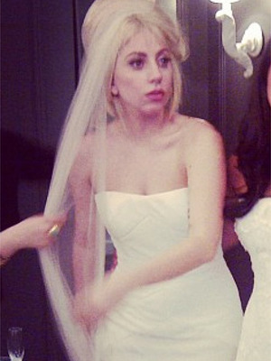 Is Lady Gaga Getting Hitched? See Her in a Wedding Gown!