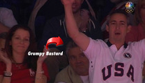 Aly Raisman's Dad -- Hassled By Grumpy A-Hole During Olympic Gym Finals
