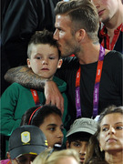 David Beckham Takes His Boys to the Olympic Games!