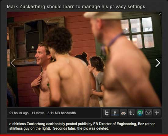 Mark Zuckerberg shirtless