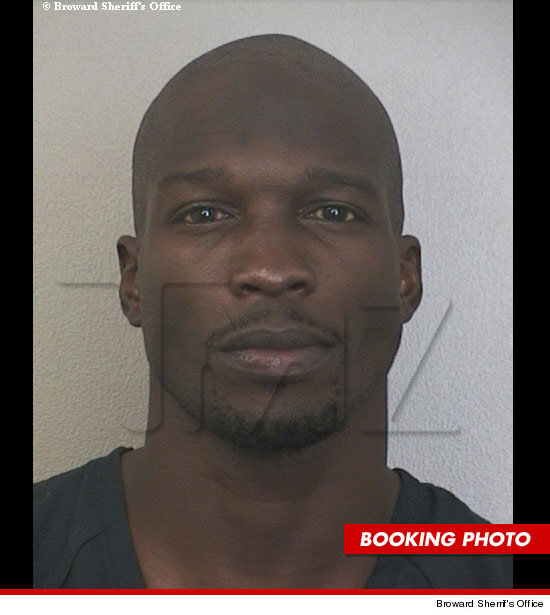 Chad Johnson mug shot after arrest.