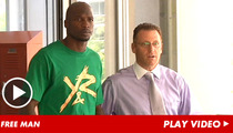 Chad Johnson -- Walks Out of Jail