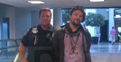Bam Margera -- Detained &amp; Cuffed in Airport ... for Reeking of Booze