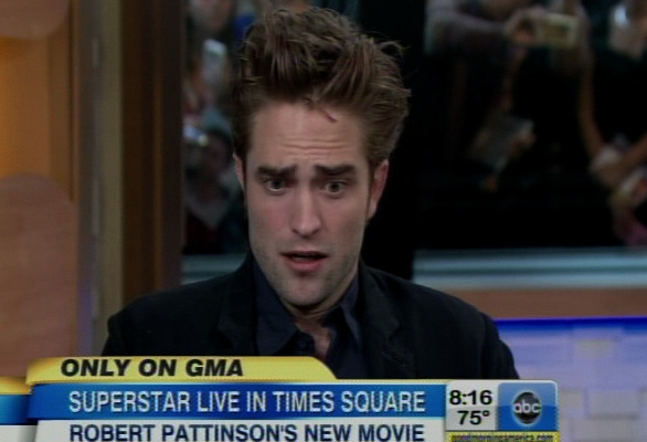 "Robert Pattinson Dodges Personal Questions on ""Good Morning America"""
