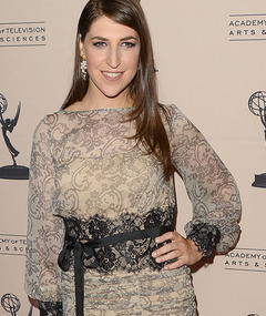 Mayim Bialik Hits First Red Carpet Since Car Accident