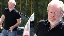 Ridley Scott Arrives in L.A.