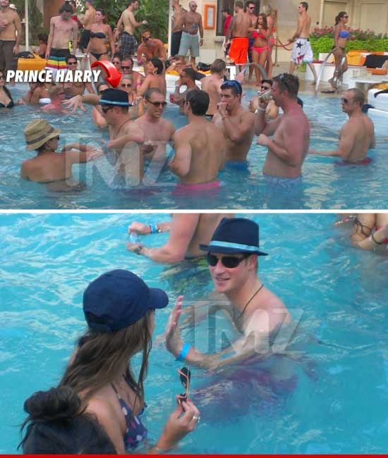 Prince Harry at a Vegas pool party.