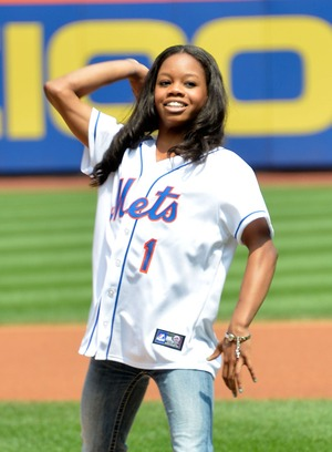 Gabby Douglas -- The Golden Pitch!