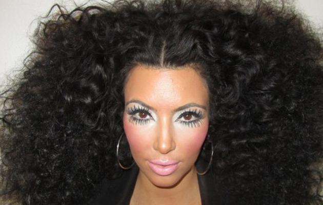 Kim Kardashian Sports Crazy Makeup for Diana Ross-Inspired Shoot
