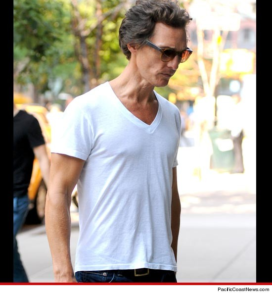 Matthew McConaughey is usually known for flaunting his buff and