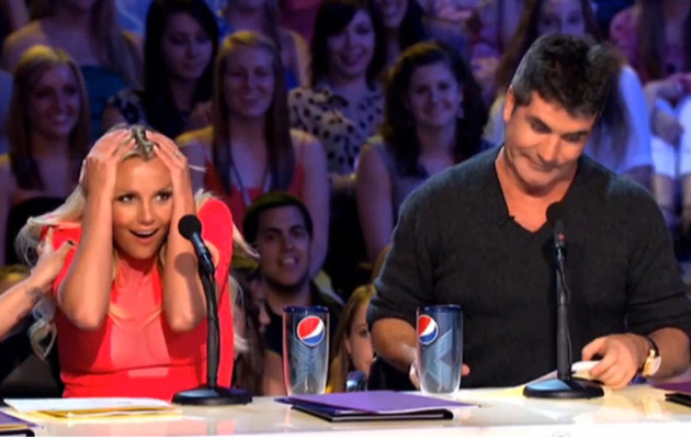 """Oops!"" Britney Spears Makes Herself Blush in ""X Factor"" Promo"