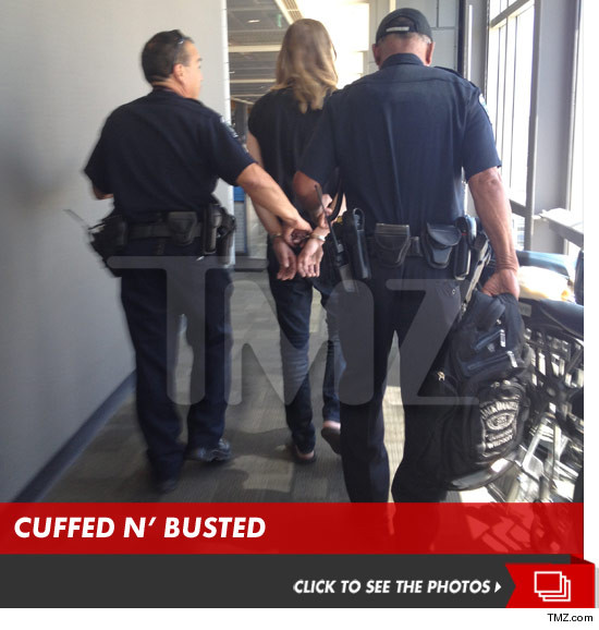Puddle of Mudd singer Wes Scantlin being arrested at an Austin, TX airport