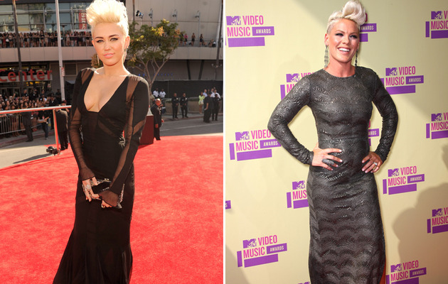 Miley Cyrus & P!nk: Who Had the Better VMA Bouffant?