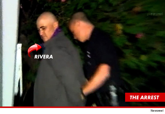 Jason Luis Rivera being arrested.