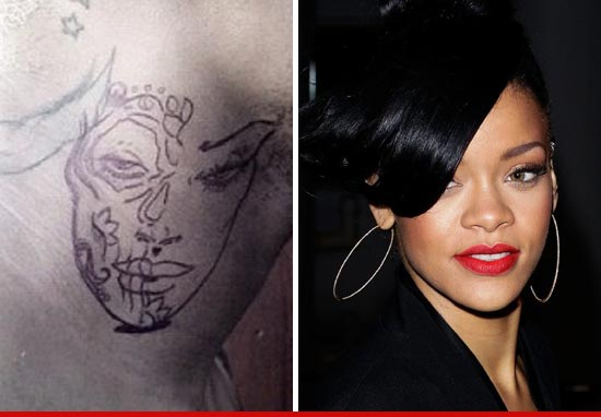Chris Brown's New Rihanna-Lookalike Tattoo