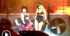 Nikki Sixx&#039;s Hot Girlfriend -- Stripper Dancin&#039; At Motley Crue Concert [Video]