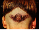 Lady Gaga Gets New Head Tattoo ... In Front of Hundreds!
