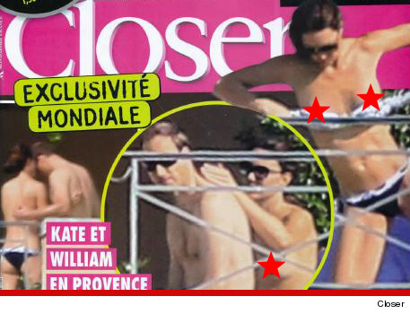 Kate Middleton Topless Pics from Closer magazine