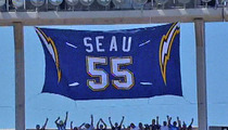 Junior Seau -- Chargers Retire Jersey No. 55 During Emotional Tribute