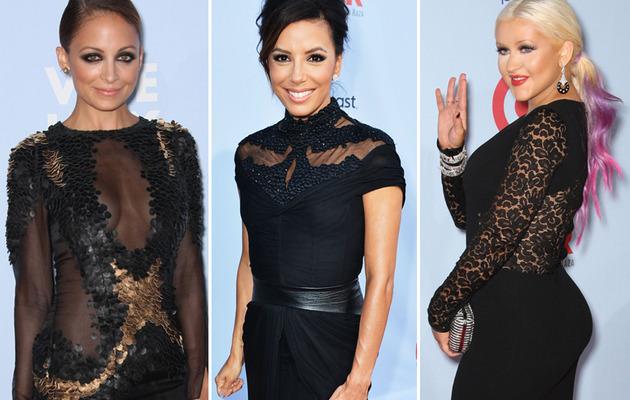 Christina Aguilera Flaunts Curves at ALMA Awards