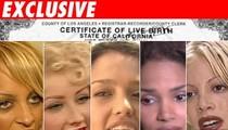 Celebrity Baby Birth Certs