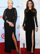 Dueling Dresses: Christina Aguilera vs. Angelina Jolie! 