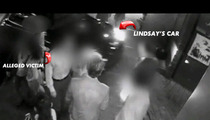 Lindsay Lohan -- VIDEO FOOTAGE of the Alleged Pedestrian Strike