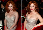 Christina Hendricks Brought Her Cleavage to the Emmys