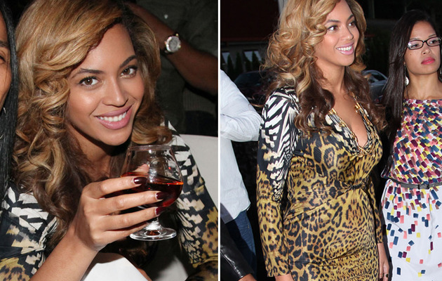 Beyonce Steps Out to Cognac Party Amid Pregnancy Rumors
